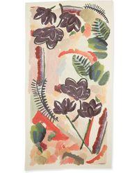 Burberry Prorsum Watercolor Floralprint Cashmere Scarf - Lyst