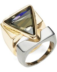 ABS By Allen Schwartz - Triangle Two-tone Ring Set - Lyst