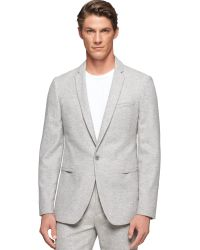 Calvin Klein Ck Premium Grey Slim-fit Suit Jacket - Lyst