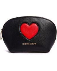 Love Moschino Peace Love Cosmetic Case - Black