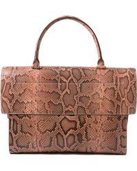 Givenchy   Snake Print Leather Satchel   Lyst
