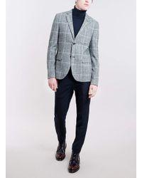 Topman Navy Skinny Smart Trousers - Lyst