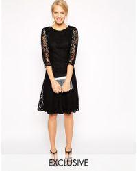 Oasis Baroque Lace Midi Dress - Lyst