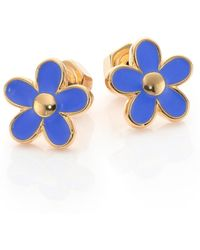 Marc By Marc Jacobs Carry Forward Daisy Stud Earrings/Goldtone blue - Lyst