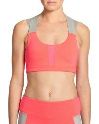 Alo Yoga Jetty Colorblock Cross-Back Sports Bra - Lyst