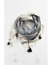 Ecote | Double Layer Tassel Scarf | Lyst