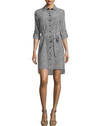 Diane von Furstenberg Prita Floral Silk Shirtdress - Multicolor