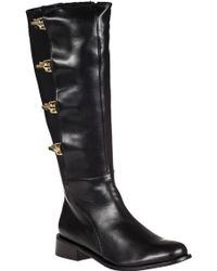 Vaneli For Jildor Realyna Tall Boot Black Leather black - Lyst