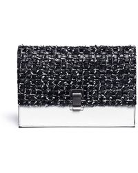 Proenza Schouler Interwoven Leather Small Lunch Bag black - Lyst
