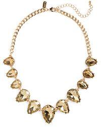 Tasha - Statement Necklace - Hematite/ Black - Lyst