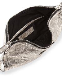 Alexander McQueen Demanta Metallic Small Clutch Bag Silver - Lyst