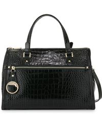 Class Roberto Cavalli Anais Large Croc-Embossed Leather Satchel Bag - Lyst