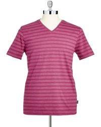Hugo Boss Striped T- Shirt - Lyst