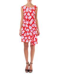 Nina Ricci Floral Silk Bias-cut Dress - Lyst
