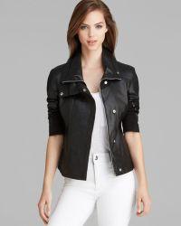 Dawn Levy - New York Jacket - Drape Collar Leather High/low - Lyst