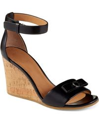 Marc By Marc Jacobs Leather Wedge Sandals - Lyst