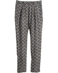 H&M Woven Trousers gray - Lyst