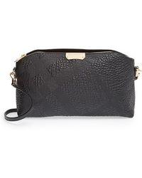 Burberry 'Small Chichester' Check Embossed Leather Crossbody Bag - Lyst
