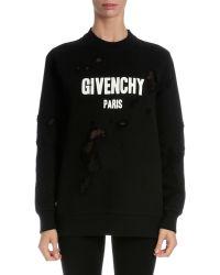 Givenchy - Long-sleeve Logo-print Sweatshirt - Lyst