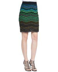 M Missoni Ripple Knit Skirt - Lyst