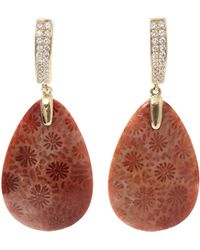 Pamela Huizenga - Fossilized Coral Earrings - Lyst