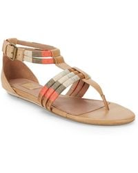 Ella Moss - Kiley Leather Ankle-Strap Sandals - Lyst