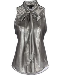 Ralph Lauren Top gray - Lyst