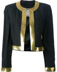 Moschino Cropped Bolero Jacket - Lyst