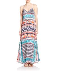 Felicite Printed Maxi Dress - Lyst