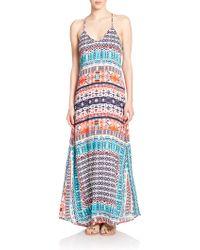 Felicite Printed Maxi Dress multicolor - Lyst
