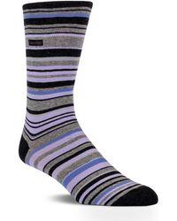 Calvin Klein Striped Barcode Sock - Lyst