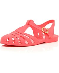River Island Coral Pink Jelly Shoes pink - Lyst