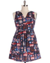Folter Inc Set Out For The Sights Dress - Blue