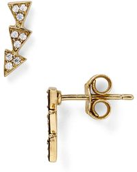 Melinda Maria - Cece Pavé Stud Earrings - Lyst