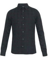 Kenzo Checked Cotton Shirt - Lyst