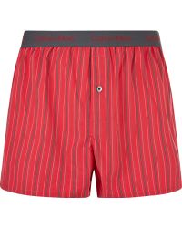 Calvin Klein Red &Amp; Black Stripe 2 Pack Boxers - Lyst