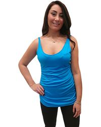 Lola & Sophie V Neck Tank With Side Ruching - Lyst