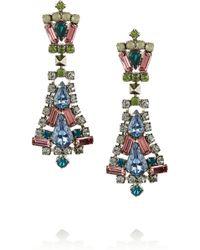 Tom Binns Rhodium-plated Swarovski Crystal Earrings - Lyst