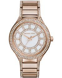 Michael Kors Kerry Rose Goldtone Stainless Steel & Mother-Of-Pearl Glitz Bracelet Watch - Lyst