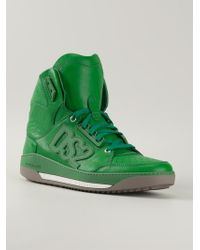 DSquared² Appliqué Logo High-Top Sneakers - Lyst