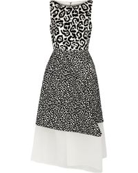 Antonio Berardi Leopardprint Satin and Velvet Dress - Lyst