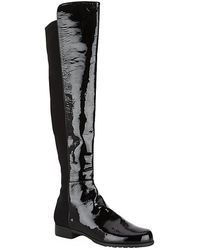Stuart Weitzman Patent Over-the-Knee Boot - Lyst