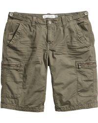 H&M Cargo Shorts - Natural