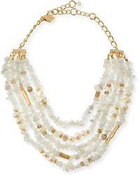 Sequin | Multi-strand Agate & Pearl Necklace | Lyst