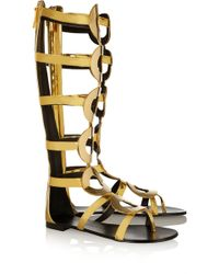 Giuseppe Zanotti Nuvorock Embellished Leather Sandals - Lyst