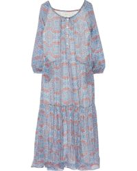 Paul & Joe Chatoyan Printed Silk-Chiffon Maxi Dress - Lyst