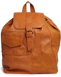 Pull&Bear - Patchwork Backpack in Tan - Lyst