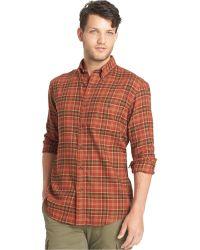 G.H.BASS - Big And Tall Black Fireside Flannel Plaid Long-sleeve Shirt - Lyst