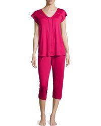 Hanro Pisa Crop Pajama Set - Lyst