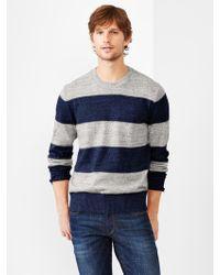 Gap Marled Stripe Sweater - Lyst